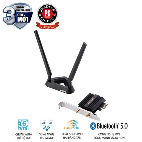 Card wifi 6 Asus  PCE-AX58BT