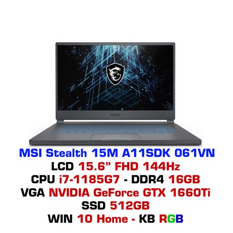 Laptop MSI Stealth 15M A11SDK 061VN