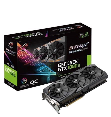 ASUS ROG GTX 1080 Ti Strix 11GB Gaming OC 352Bit DDR5X