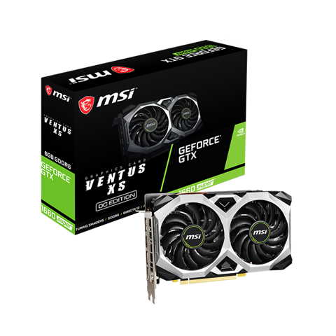 MSI GeForce® GTX 1660 SUPER Ventus XS OC 6GB GDDR6