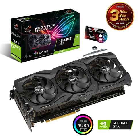 ROG Strix GeForce® GTX 1660 Ti OC edition 6GB GDDR6