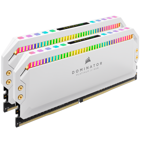 (16G DDR4 2x8G 3200 ) Corsair Dominator Platinum RGB White