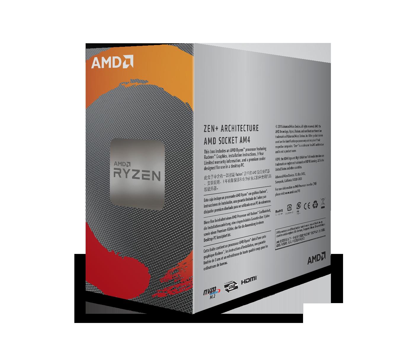 AMD Ryzen 3 3200G /6MB /3.6GHz /4 nhân 4 luồng