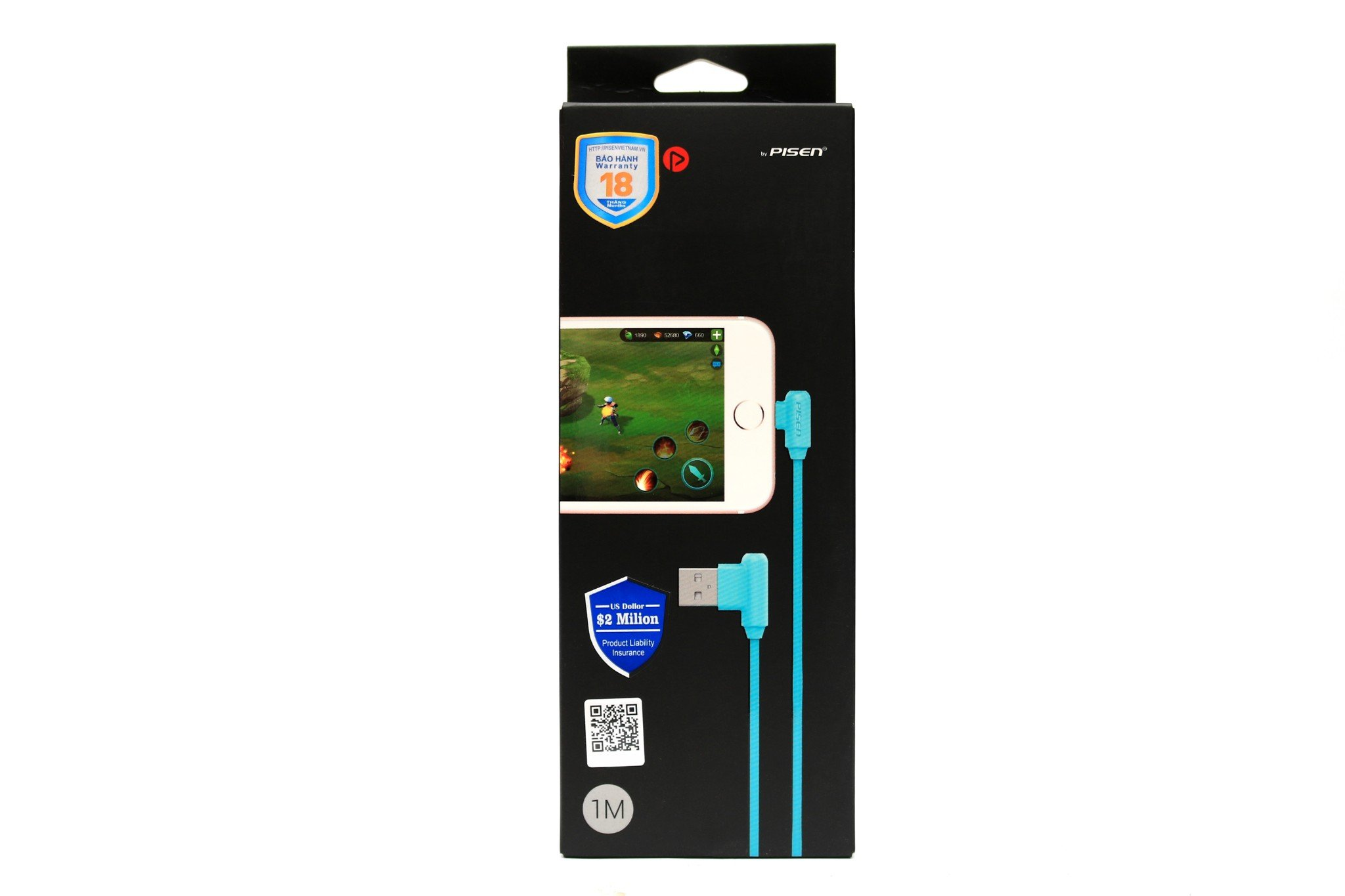 Pisen Powerteen Lightning (L-Shape) - Blue