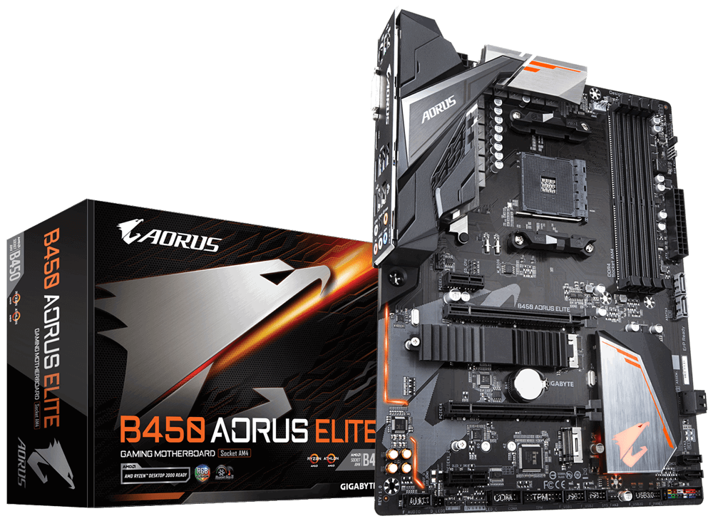 GIGABYTE B450 AORUS ELITE (AMD Socket AM4)