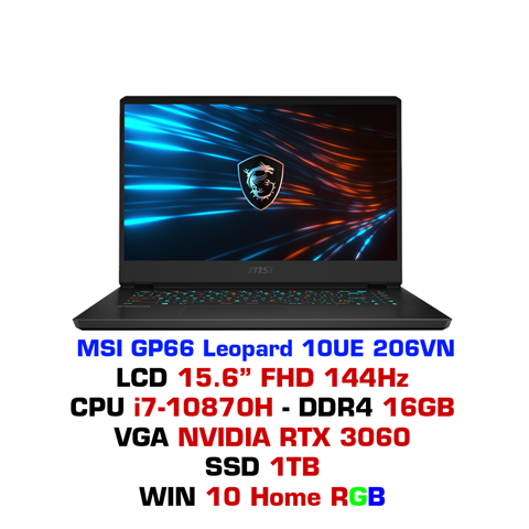 Laptop Gaming MSI GP66 Leopard 10UE 206VN