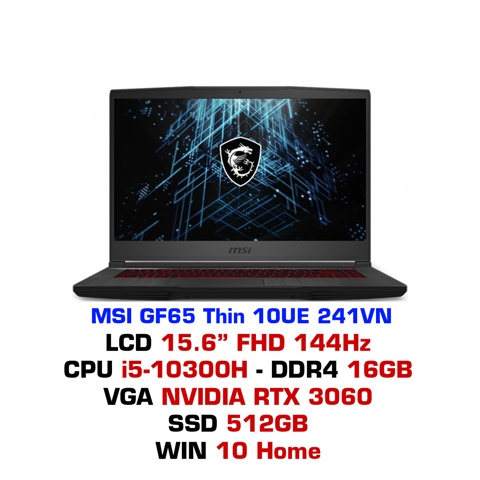Laptop Gaming MSI GF65 Thin 10UE 241VN