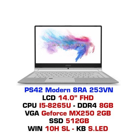 Laptop Gaming MSI PS42 Modern 8RA 253VN