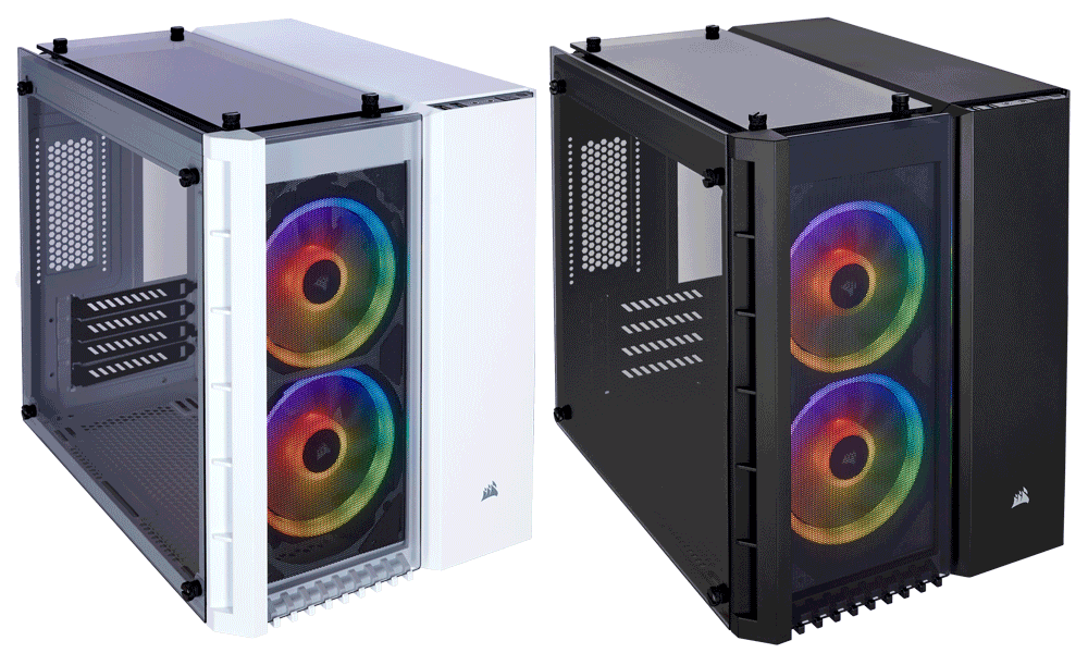 Case Corsair CRYSTAL SERIES 280X RGB TEMPERED GLASS (MICRO-ATX )
