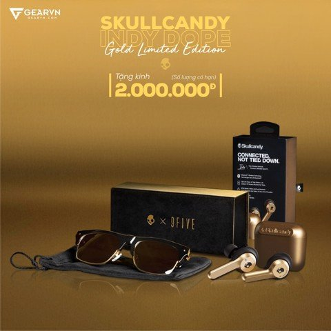 Tai nghe Skullcandy Indy DOPE Gold Limited Edition