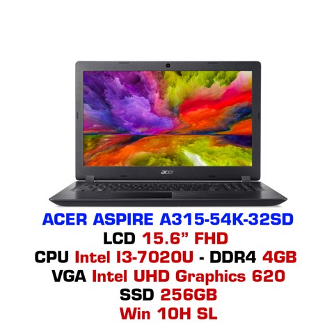Laptop Acer Aspire A315-54K 32SD (ĐỎ)