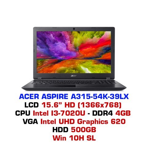 Laptop Acer Aspire A315-54K 39LX