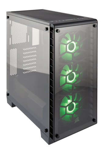 (Mid-Tower) Case Corsair 460X RGB Crystal Series Tempered Glass