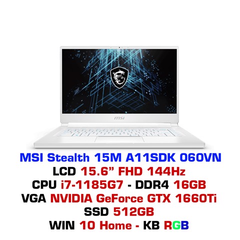 Laptop MSI Stealth 15M A11SDK 060VN