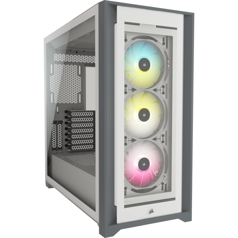 Case Corsair 5000X RGB Tempered Glass White