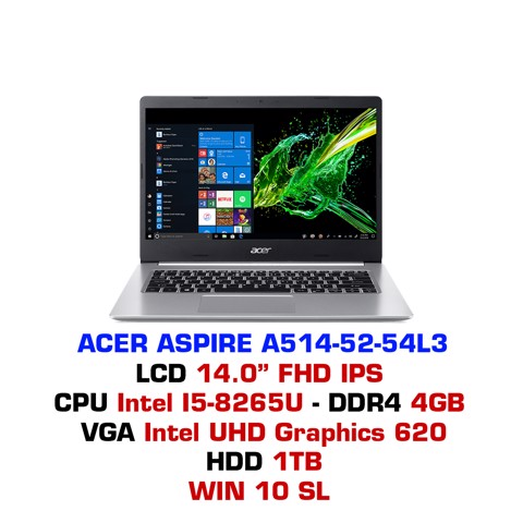 Laptop Acer Aspire 5 A514-52 54L3