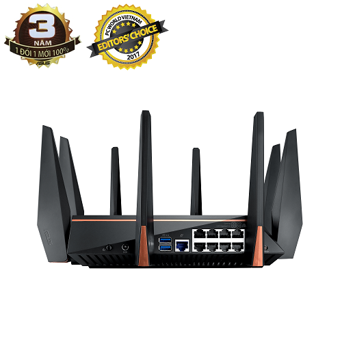 ASUS ROG Rapture GT-AC5300 (Gaming Wifi Router) AC5300 WTFast 3 băng tần