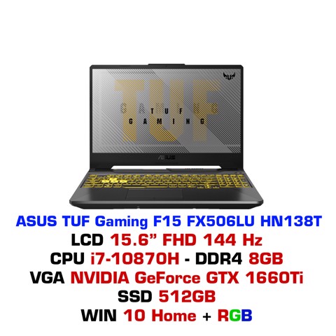 Laptop ASUS TUF Gaming F15 FX506LU HN138T