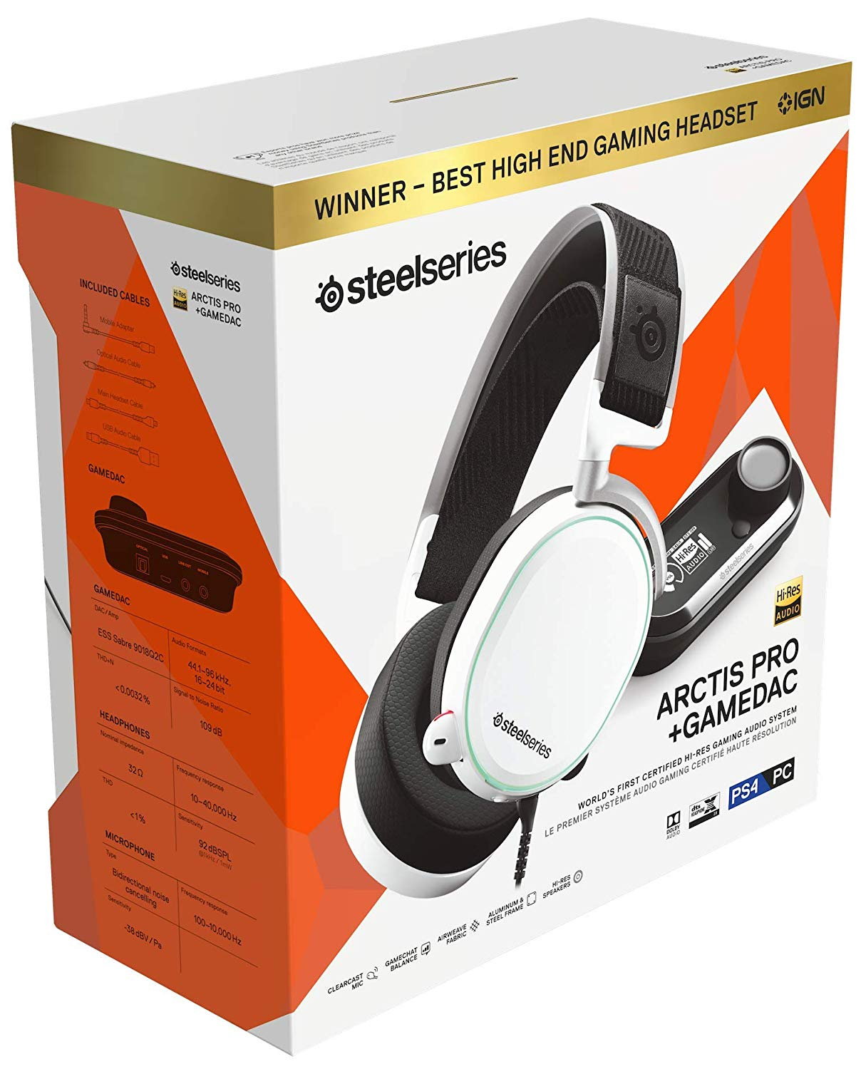 SteelSeries Arctis Pro + GameDAC - White