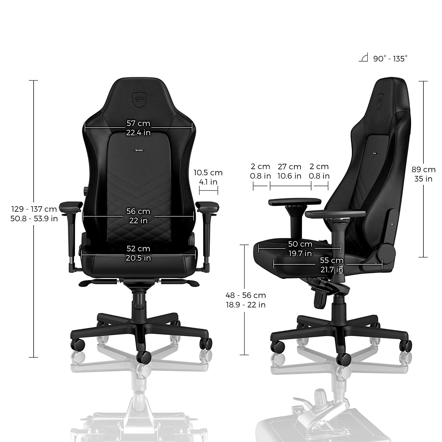 Ghế Gamer Noble Chair - Hero Series Black
