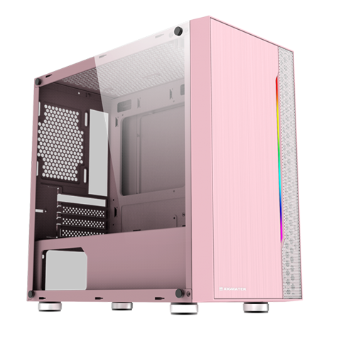 Case XIGMATEK GEMINI PINK (Mini Tower)