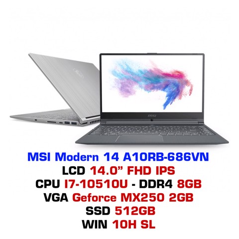 Laptop MSI Modern 14 A10RB 686VN