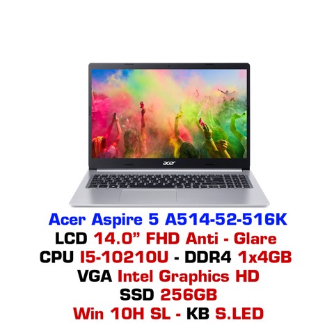 Laptop Acer Aspire 5 2019 A514-52 516K