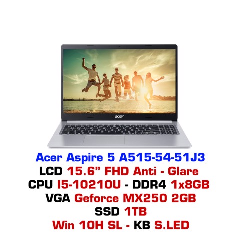 Laptop Acer Aspire 5 2019 A515-54 51J3