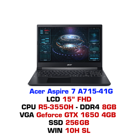 Laptop Gaming Acer Aspire 7 A715 41G R8KQ