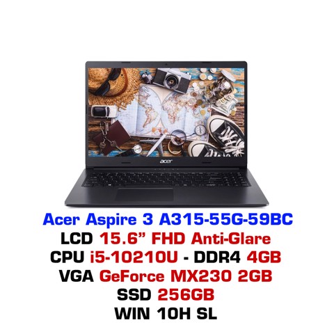 Laptop Acer Aspire 3 A315 55G 59BC