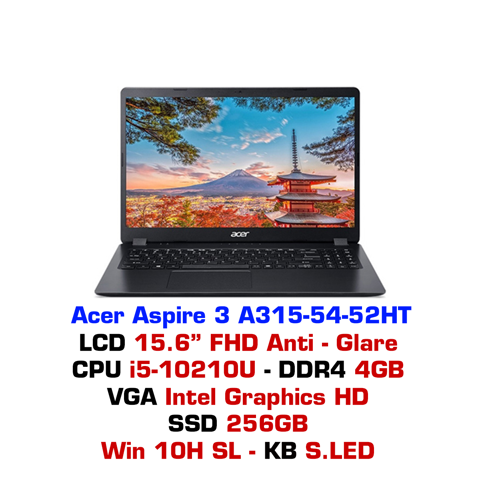 Laptop Acer Aspire 3 2019 A315 54 52HT