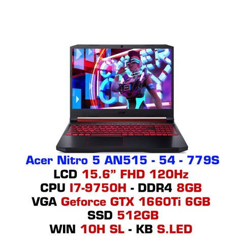 Laptop Gaming Acer Nitro 5 2019 AN515-54 779S