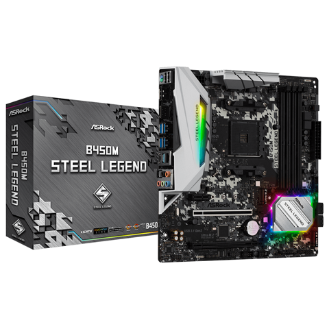 Asrock B450M Steel Legend (AMD Socket AM4)