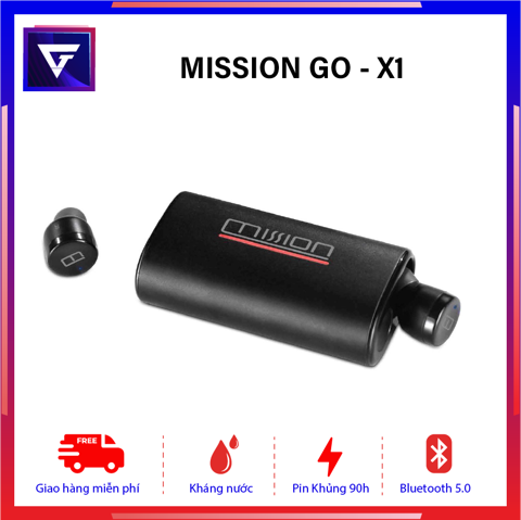 Tai nghe True Wireless Mission GO - X1 Pin 95h