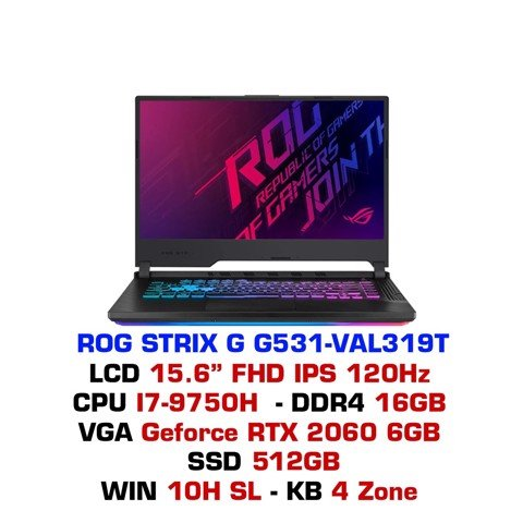 Laptop Gaming Asus ROG STRIX G G531 VAL319T