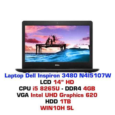 Laptop Dell Inspiron 3480 N4I5107W Black