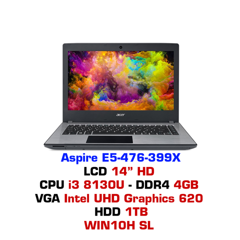Laptop Acer Aspire E5-476 399X Xám