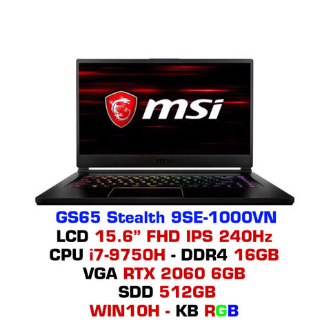 Laptop Gaming MSI GS65 Stealth 9SE 1000VN