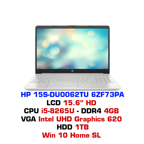 Laptop HP 15S-DU0062TU 6ZF73PA