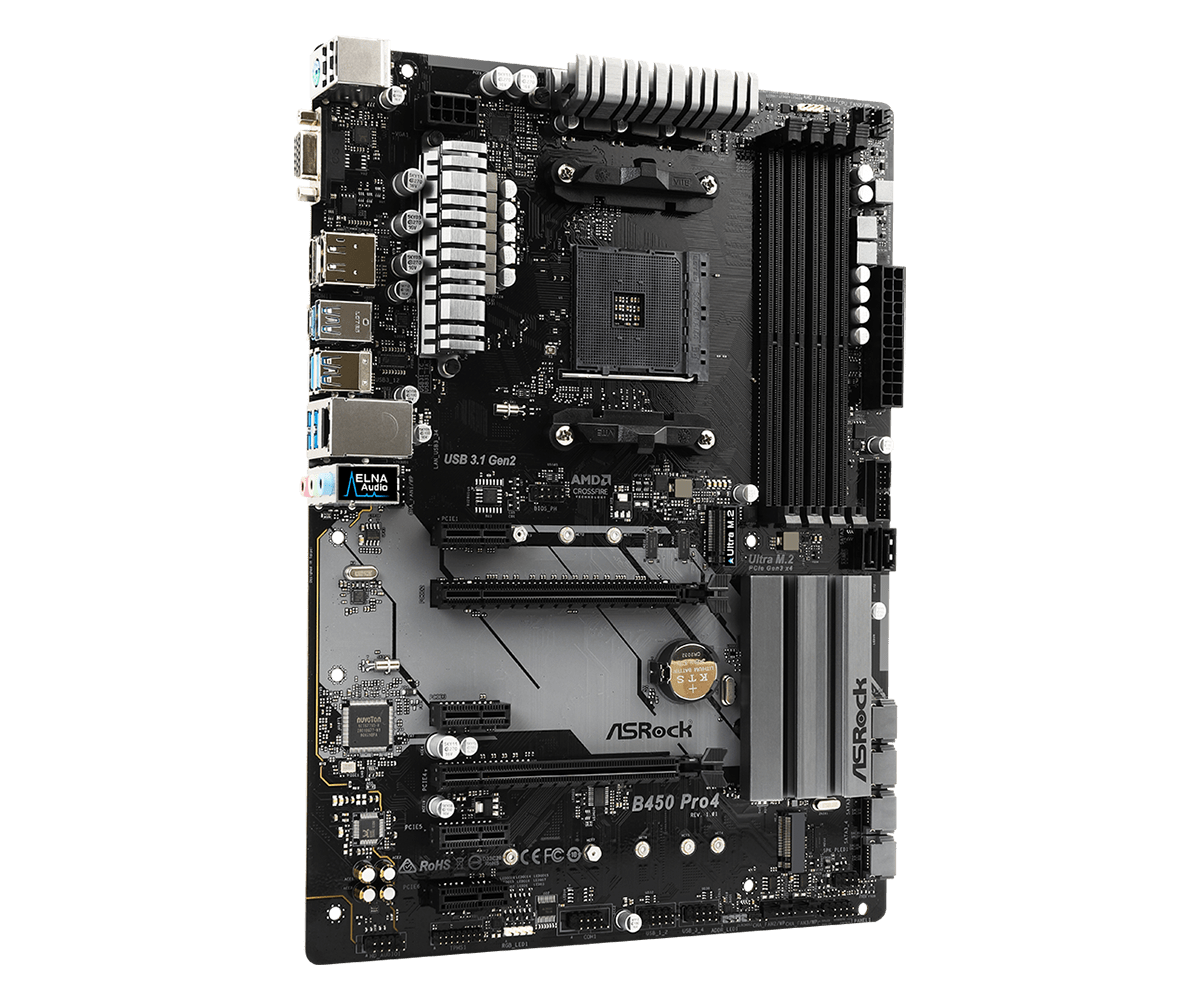 Asrock B450 Pro 4 (AMD Socket AM4)