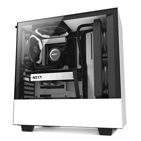 Case NZXT H500 - White (Mid - Tower)