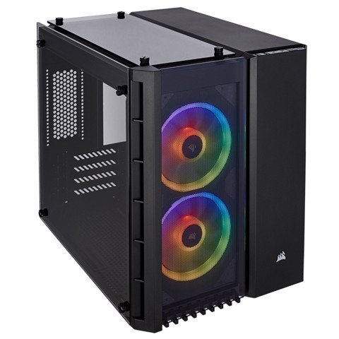 Case Corsair CRYSTAL SERIES 280X Black RGB TEMPERED GLASS (MICRO-ATX )