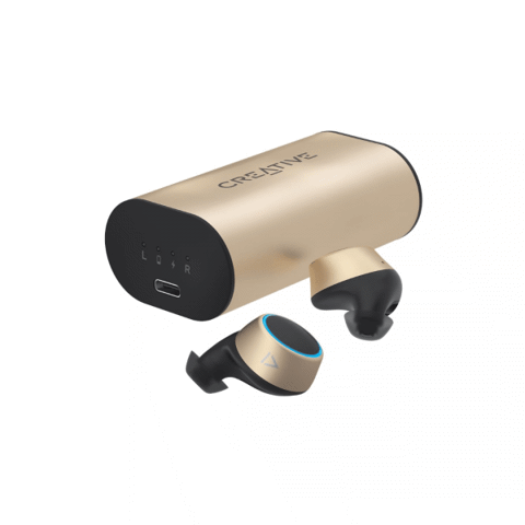 Tai nghe thể thao True Wireless Creative Outlier Gold