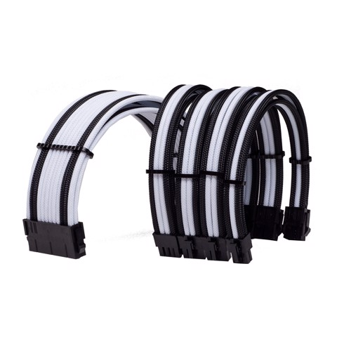 Combo Dây Cable Sleeving  White - Black