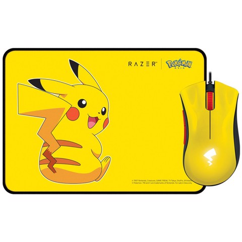 Combo Razer DeathAdder Essential + Goliathus Speed Pikachu Limited Edition