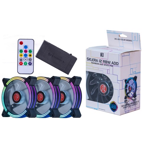 Fan RAIJINTEK SKLERA 12 RBW ADD