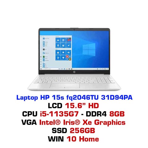 Laptop HP 15s fq2046TU 31D94PA