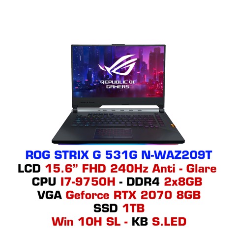 Laptop Gaming Asus ROG STRIX G G531GN WAZ209T