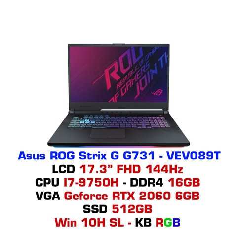 Laptop Gaming Asus ROG STRIX G G731 VEV089T