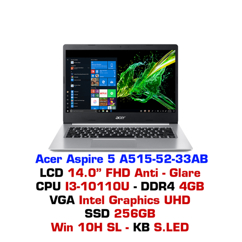 Laptop Acer Aspire 5 2019 A515-52 33AB